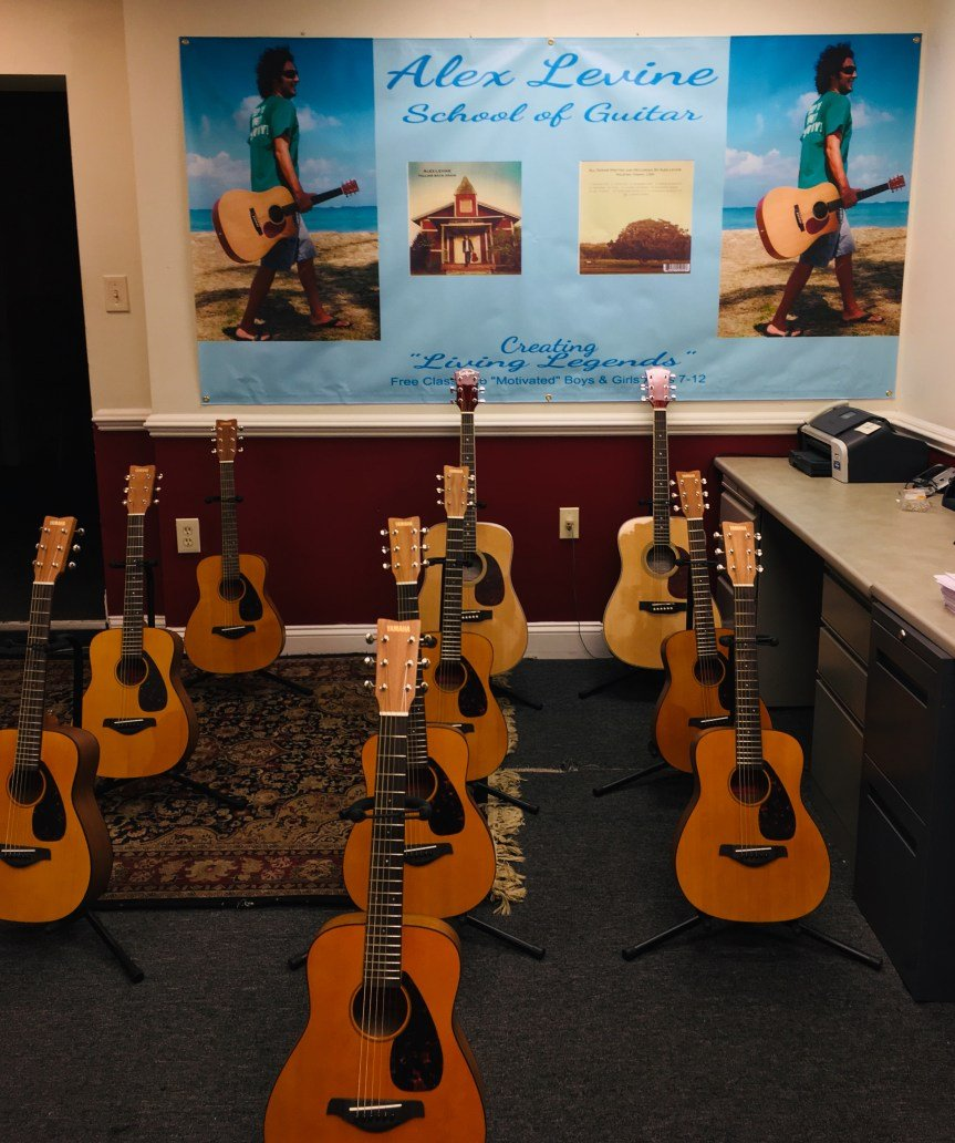 Guitars Wait for Students