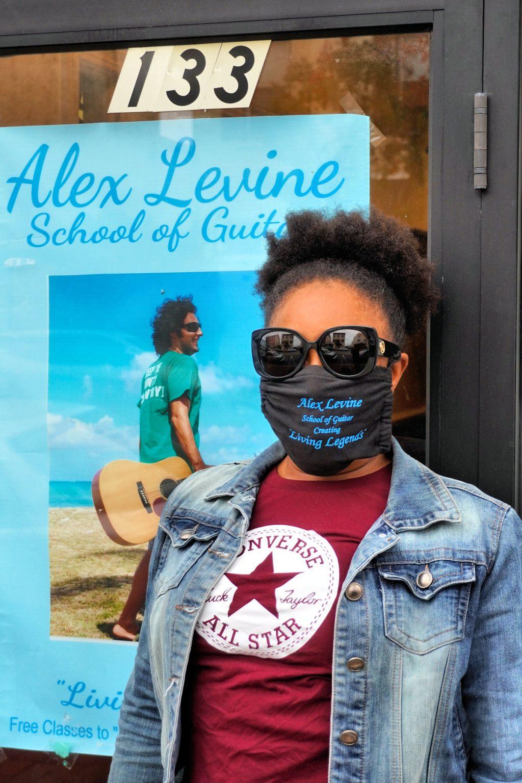 Parent Outside Alex Levine School