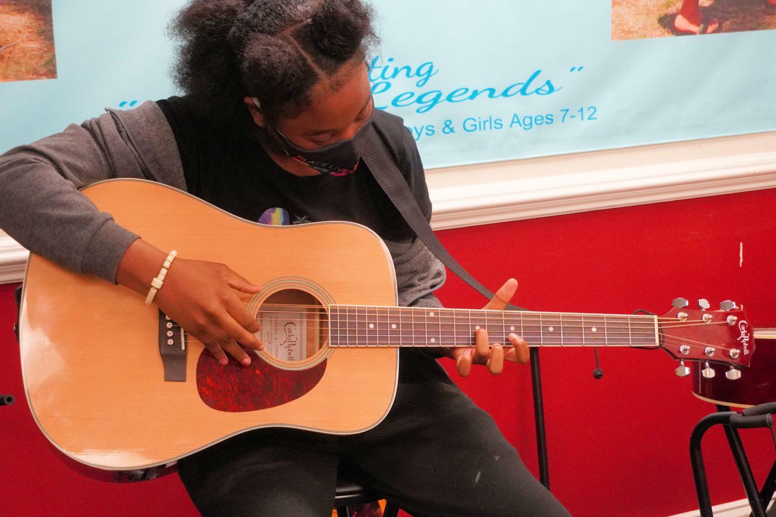 Plucking a hard chord