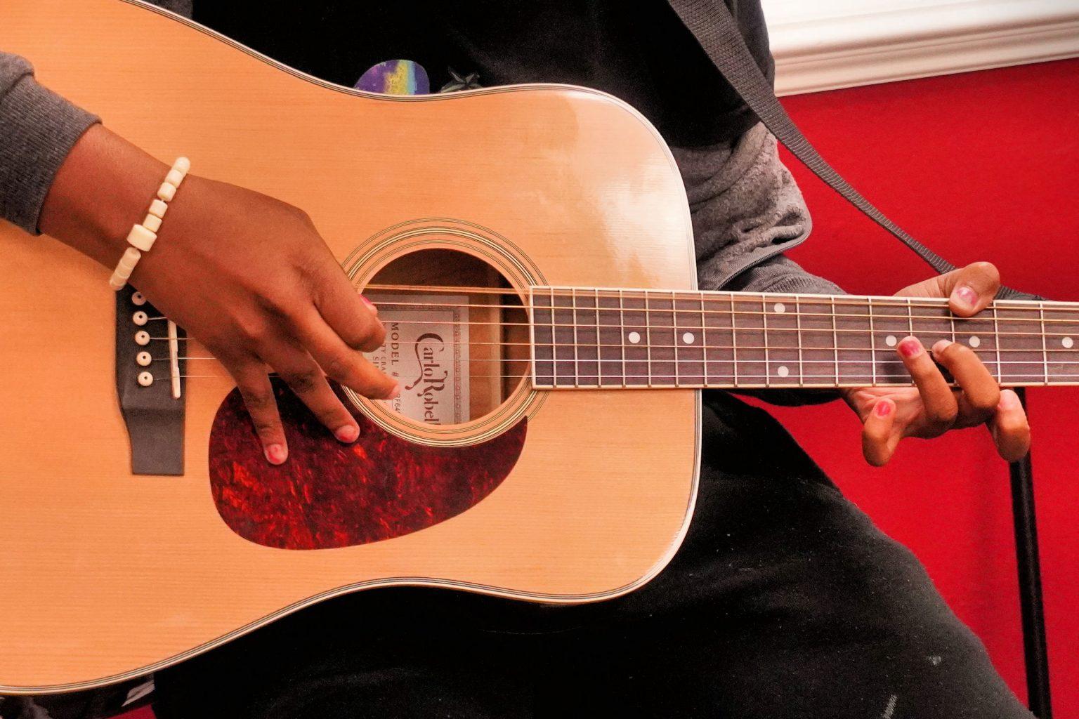 Hard chords are hard on the fingernails
