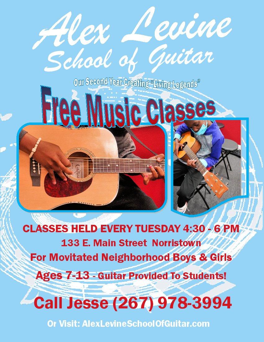 Alex Levine School of Guitar 2021 Flyer